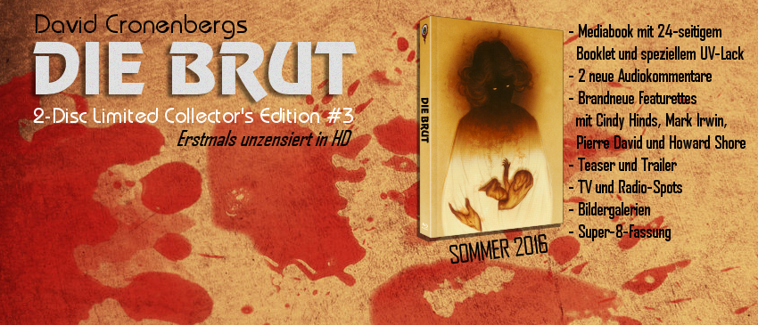 Die Brut - The Brood BluRay DVD uncut unzensiert